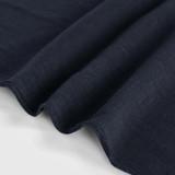 Viscose Linen Crepe - Navy | Blackbird Fabrics