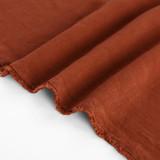 Viscose Linen Crepe - Terracotta   Blackbird Fabrics