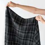 Washed Poly Viscose Check | Blackbird Fabrics