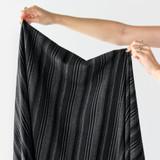Washed Poly Viscose Stripe | Blackbird Fabrics