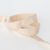 "Picot Plush Back Elastic 3/4"" (19mm) - Beige   Blackbird Fabrics"