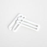 Metal G-Hook - White | Blackbird Fabrics