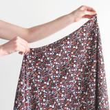 Printed Viscose Crepe - Mini Terrazzo - Black Multi | Blackbird Fabrics