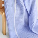 Mini Stripe Linen - Blue/White | Blackbird Fabrics