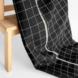 Check Linen & Cotton Blend - Black/White | Blackbird Fabrics