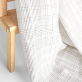 Plaid Linen & Tencel Blend - White/Black | Blackbird Fabrics