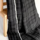 Plaid Linen & Tencel Blend - Black/White | Blackbird Fabrics