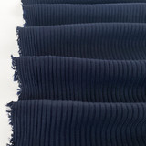 Medium Weight Bamboo Rib Knit - Midnight Blue | Blackbird Fabrics