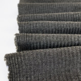 Medium Weight Bamboo Rib Knit - Heather Charcoal | Blackbird Fabrics