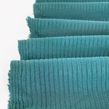 Medium Weight Bamboo Rib Knit - Dusty Teal | Blackbird Fabrics