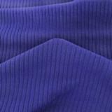 Medium Weight Bamboo Rib Knit - Royal Blue   Blackbird Fabrics