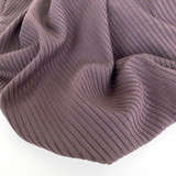 Medium Weight Bamboo Rib Knit - Raisin | Blackbird Fabrics