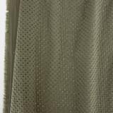 Honeycomb Cotton Eyelet - Light Olive   Blackbird Fabrics