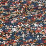 Floral River Viscose Crepe - Navy | Blackbird Fabrics
