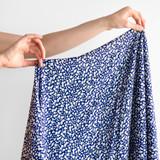 Moonshine Daisies Viscose Challis - Blue | Blackbird Fabrics