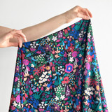 Blush Blooms Viscose Challis - Multi | Blackbird Fabrics