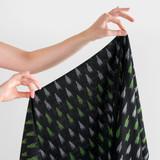 Handwoven Cotton Ikat Dashes - Black/Lime Green | Blackbird Fabrics