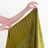 Handwoven Cotton Ikat Dashes - Cactus | Blackbird Fabrics