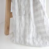 Check Linen Cotton Gauze - Ivory/Pale Grey | Blackbird Fabrics