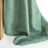 Textured Plaid Lightweight Linen - Seafoam   Blackbird Fabrics