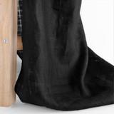 Checkered Lightweight Linen - Black   Blackbird Fabrics