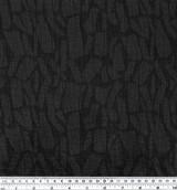 Abstract Textured Cotton Linen Jacquard - Black | Blackbird Fabrics