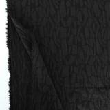 Abstract Textured Cotton Linen Jacquard - Black   Blackbird Fabrics