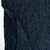 Abstract Textured Cotton Linen Jacquard - Navy   Blackbird Fabrics