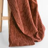 Abstract Textured Cotton Linen Jacquard - Spice   Blackbird Fabrics