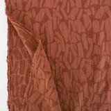 Abstract Textured Cotton Linen Jacquard - Spice | Blackbird Fabrics