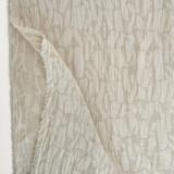 Abstract Textured Cotton Linen Jacquard - Oatmeal   Blackbird Fabrics