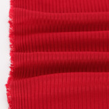 Medium Weight Bamboo Rib Knit - Crimson | Blackbird Fabrics