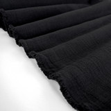 Textured Cotton Double Cloth - Black | Blackbird Fabrics