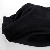 Textured Cotton Double Cloth - Black   Blackbird Fabrics