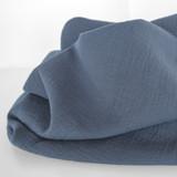 Textured Cotton Double Cloth - Slate Blue   Blackbird Fabrics
