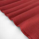 Textured Cotton Double Cloth - Rhubarb   Blackbird Fabrics