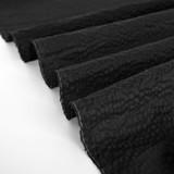Japanese Crinkle Cotton - Black   Blackbird Fabrics