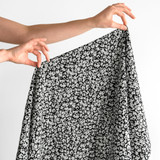 Animal Japanese Crinkle Cotton - Black/White | Blackbird Fabrics