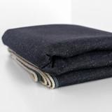 12oz Japanese Deadstock Non-Stretch Popcorn Denim - Dark Indigo | Blackbird Fabrics