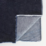 12oz Japanese Deadstock Non-Stretch Popcorn Denim - Dark Indigo | Blackbird Fabrics