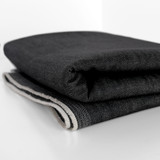 11oz Japanese Comfort Stretch Denim - Vintage Black | Blackbird Fabrics