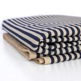 12oz Wide Railroad Striped Denim - Indigo/Ecru | Blackbird Fabrics