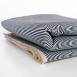 10oz Fine Railroad Striped Denim - Indigo/Ecru | Blackbird Fabrics