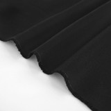 10oz Organic Cotton Duck Canvas - Black | Blackbird Fabrics
