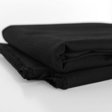 10oz Organic Cotton Duck Canvas - Black   Blackbird Fabrics