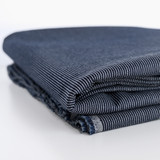 10oz Ticking Stripe Canvas - Dark Indigo/White | Blackbird Fabrics