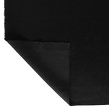 Brushed Melton Wool Blend Coating - Black | Blackbird Fabrics