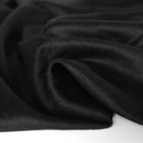 Brushed Melton Wool Blend Coating - Black | Blackbird Fabrics