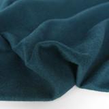 Brushed Melton Wool Blend Coating - Teal | Blackbird Fabrics