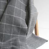 Double Faced Plaid Coating - Grey/White | Blackbird Fabrics